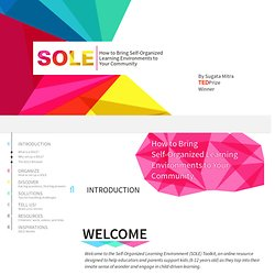 TED Prize | SOLE Toolkit
