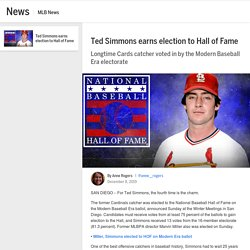 Ted Simmons elected to Hall of Fame