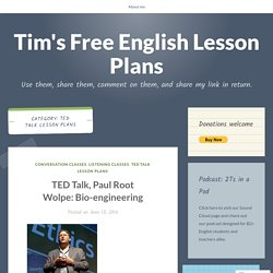 TED Talk Lesson Plans