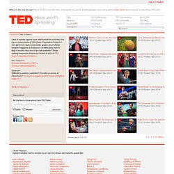 TED | Translations | Talks in Italian