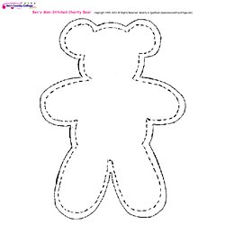 how to cut teddy bear pattern