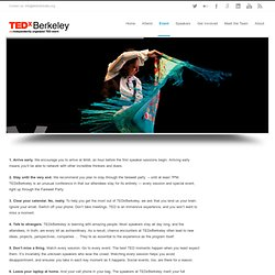 Get the most out of TEDxBerkeley