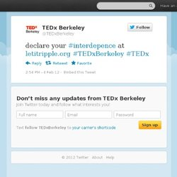 TEDx Berkeley: declare your #interdepence