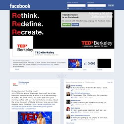 TEDxBerkeley on Facebook