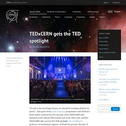 TEDxCERN gets the TED spotlight