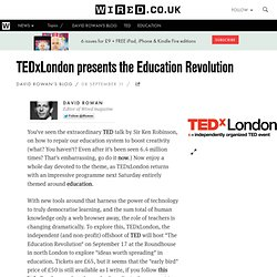 TEDxLondon presents the Education Revolution