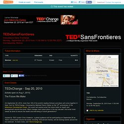 TEDxSansFrontieres - Innovation - Entrepreneurship- Eventbrite