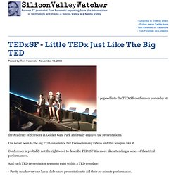TEDxSF - Little TED Just Like The Big TED