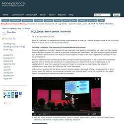 TEDxZurich: Who Controls The World - OlsenBlog's blog