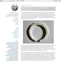 Weather Bracelet - 3D Printed Data-Jewelry