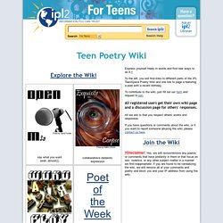 Teen Poetry Wiki
