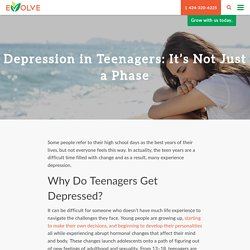 Most common reasons for teenage depression