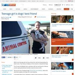 Teenage girl is dogs best friend