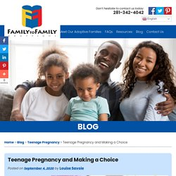 Teenage Pregnancy and Making a Choice