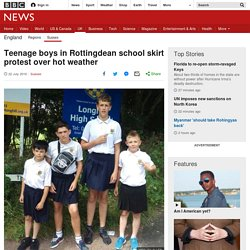 Teenage boys in Rottingdean school skirt protest over hot weather