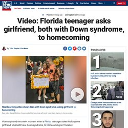 Video: Florida teenager asks girlfriend, both with Down syndrome, to homecoming