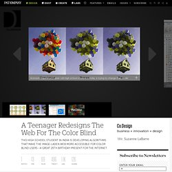 A Teenager Redesigns The Web For The Color Blind