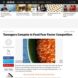 Teenagers Compete in Food Fear Factor Competition