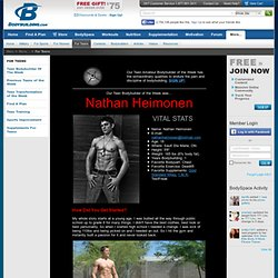 Teen Bodybuilder Of The Week: Nathan Heimonen! Pics and info and more!