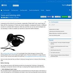 Teens and listening skills