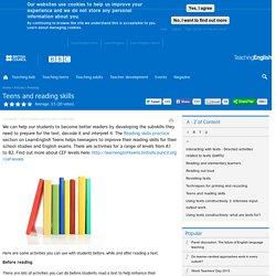 Teens and reading skills