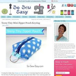 Teeny Tiny Mini Zipper Pouch Keyring