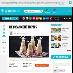 Ice Cream Cone Teepee Cupcakes Recipe
