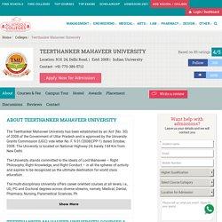 Teerthanker Mahaveer University Courses Fees