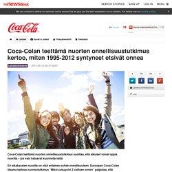 Coca-Colan teettämä nuorten onnellisuustutkimus kertoo, miten... - Coca-Cola Finland Oy