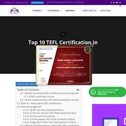 TOP 10 TEFL CERTIFICATION IN COLORADO