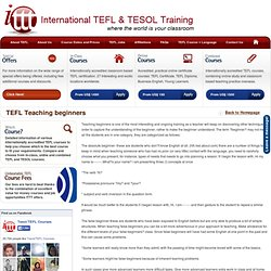 TEFL Teaching beginners