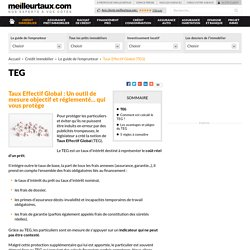 Taux Effectif Global (TEG)