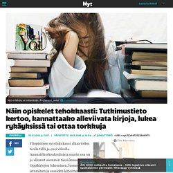Näin opiskelet tehokkaasti: Tutkimustieto kertoo, kannattaako alleviivata kirjoja, lukea rykäyksissä tai ottaa torkkuja - Opiskelu