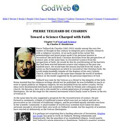 Pierre Teilhard de Chardin -- Toward a Science Charged with Faith