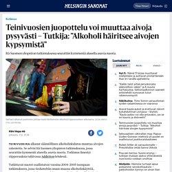 """Teinivuosien juopottelu voi muuttaa aivoja pysyvästi – Tutkija: """"Alkoholi häiritsee aivojen kypsymistä"""""""
