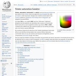 Teinte saturation lumière