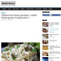 Tejfölös húsos tészta, gombával – csábító falatok gyorsan és egyszerűen! :)