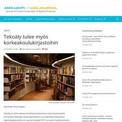 Tekoäly tulee myös korkeakoulukirjastoihin - UAS Journal