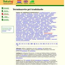 Tekstoj - Terminaro pri tradukado