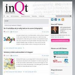 Teksten: Tekstschrijver webteksten, print en SEOwebteksten Archives » inQt Teksten: Tekstschrijver webteksten, print en SEO