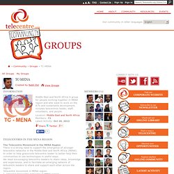 TC-MENA - Online Community - Telecentre.org Foundation