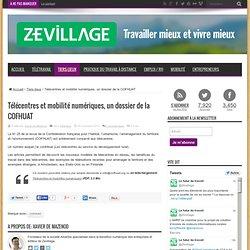 Télécentres et mobilité numériques, un dossier de la COFHUAT