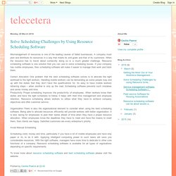 telecetera: Solve Scheduling Challenges by Using Resource Scheduling Software