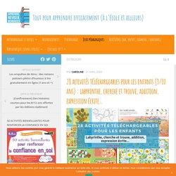 28 activités téléchargeables pour les enfants (3/10 ans) : labyrinthe, cherche et trouve, addition, expression écrite...