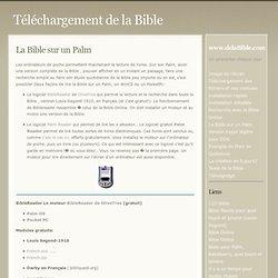 Téléchargement de la Bible » La Bible sur un Palm