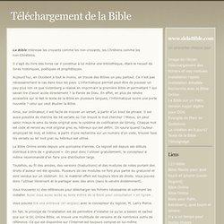 Téléchargement de la Bible