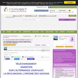 TÉLÉCHARGEMENT ANIMATION SUR L'ALTERNANCE JOUR-NUIT, LA DECLINAISON SOLAIRE, L'ORIGINE DES SAISONS