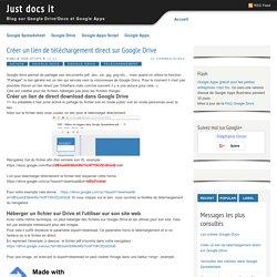 Créer un lien de téléchargement direct sur Google Drive