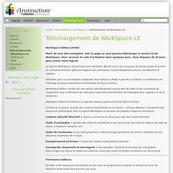 Logiciel WorkSpace LE