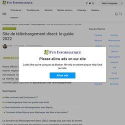 Site de téléchargement direct: le guide 2018 - FunInformatique